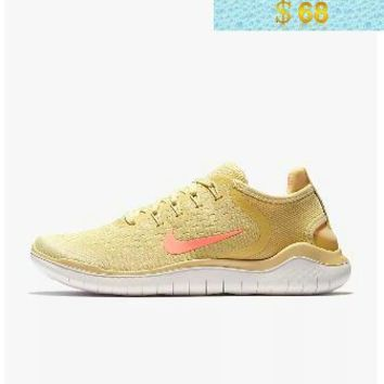 quality design 40476 46c64 Swift Run Nike Free RN 2018 Summer Lemon RUNNING SHOES AO1911-700 Wash  Fossil Sail