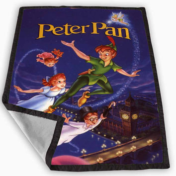 Flying With Peter Pan Blanket for Kids Blanket, Fleece Blanket Cute and Awesome Blanket for your bedding, Blanket fleece *