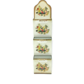 Vintage Metal Wall Organizer,Bills Letters Misc Sorter,Office Organization,Kitchen Organization,Pocket Slot Sorter,Vintage Kitchen,Starburst