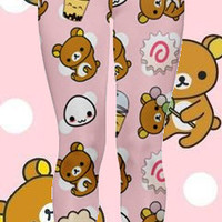 Lazy Bear Says Relax and Eat Snacks Leggings