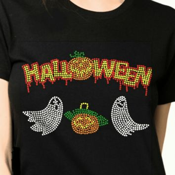 Bling T-Shirt  | Women Halloween  -Rhinestones-SHIRT Shop Here!
