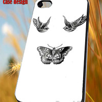 Butterfly And Bird Tattoo Harry Styles 1D One Direction for iPhone 4/4S/5/5S/5C Case, Samsung Galaxy S3/S4/S5 Case, iPod Touch 4/5 Case