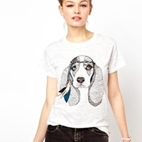 Brat & Suzie Hippy Dog Burn Out T-Shirt at asos.com