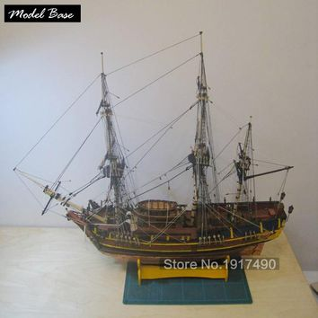 Wooden Ship Models Kits Diy Educational Toy Model Boats Wooden 3d Laser Cut Scale Model 1/64 Bounty- Original number (Bethia)