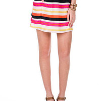 Santa Barbara Striped Skirt                       - Francescas