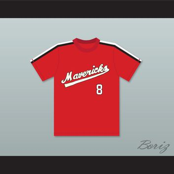 Frank Peters 8 Portland Mavericks Baseball Jersey The Battered Bastards of Baseball