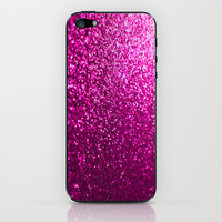 Pink Sparkle Glitter iPhone & iPod Skin by xjen94