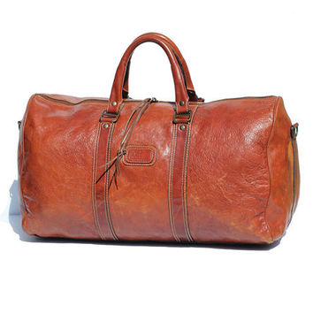Italian Ceder Chest Brown Leather His or Hers Travel Bag