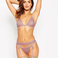 ASOS Scallop Mesh Triangle Bra
