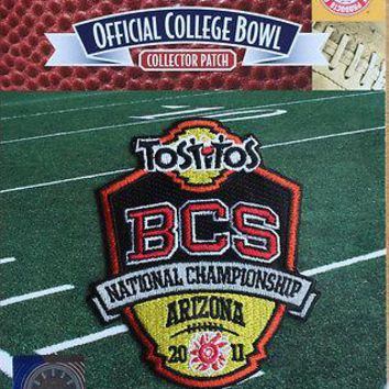 2011 BCS National Championship NCAA Football Bowl Patch Oregon - Auburn Tigers