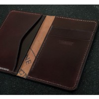 #53 Horween Shell Cordovan Compact Bi-Fold Wallet