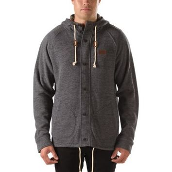 Vans Fleet Zip Hoodie (Black Heather)