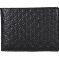Gucci Men's Black Microguccissima Leather Trifold 217044