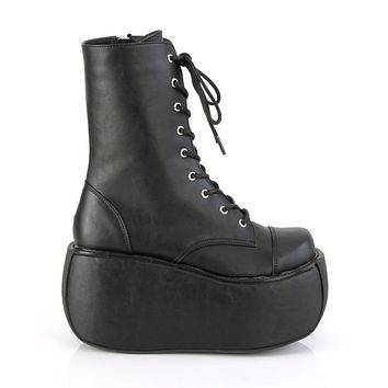 Demonia Platform Lace-Up Front Ankle Boot