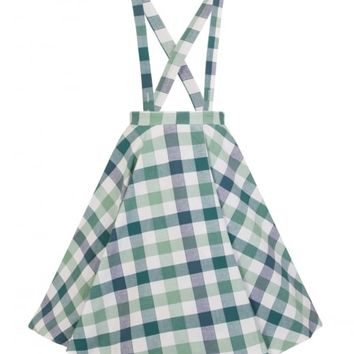 COLLECTIF X MODCLOTH LIESEL PICNIC CHECK SWING SKIRT