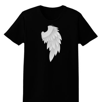 Single Right Angel Wing Design - Couples Womens Dark T-Shirt