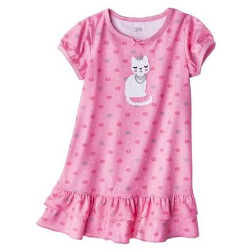 Just One You™ Made by Carter's® Infant Toddler Girls' Short-Sleeve Cat Nightgown