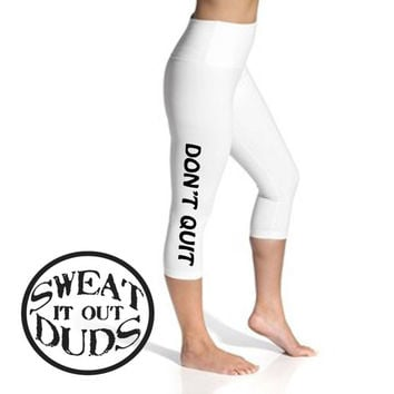 Workout leggings, plus size workout, yoga leggings, womens leggings, workout clothes, workout clothes for women, womens fashion, DON'T QUIT