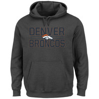 Men's Denver Broncos Majestic Charcoal Kick Return Pullover Hoodie