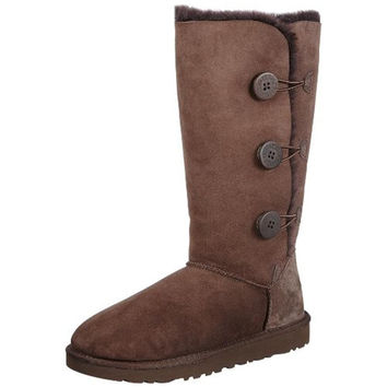 Ugg Australia Womens Bailey Button Triplet Suede Lined Mid-Calf Boots