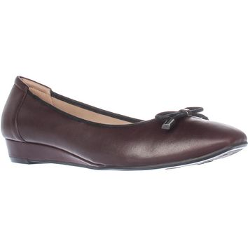 naturalizer Dove Wedge Ballet Flats, Bordo Leather, 9 WW US