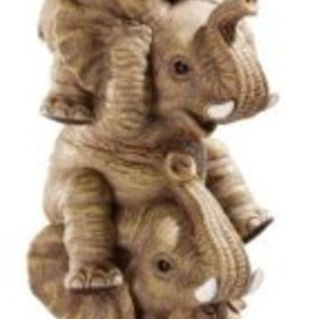 Design Toscano The Hear-No, See-No, Speak-No Evil Elephants in Natural
