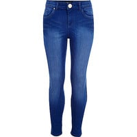 River Island Girls bright blue skinny jeans