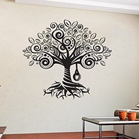 Family Tree Decal Family tree wall decal tree wall sticker photo frame tree mural office tree wall decal living room trees decal C481