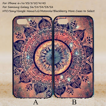 Mandala Couple Case,Best Friends Forever,Custom Case,iPhone 6+/6/5/5S/5C/4S/4