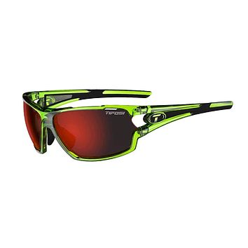 Tifosi - Amok Crystal Neon Green Sunglasses / Clarion Red + AC Red + Clear Lenses