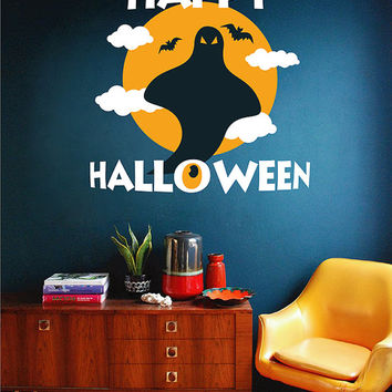 kcik1650 Full Color Wall decal greeting halloween coffee shop showcase