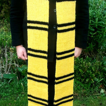 Harry Potter Hufflepuff knitted scarf - 8 ft long