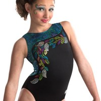 Vibrant Vines Tank Leotard from GK Elite