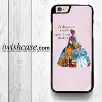 Cinderella Quote Disney for iPhone 4 4S 5 5S 5C 6 6 Plus , iPod Touch 4 5  , Samsung Galaxy S3 S4 S5 S6 S6 Edge Note 3 Note 4 , and HTC One X M7 M8 Case