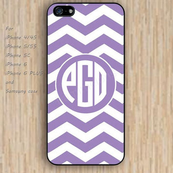 iPhone 5s 6 case Chevron Monogram Purple case Dream colorful phone case iphone case,ipod case,samsung galaxy case available plastic rubber case waterproof B493