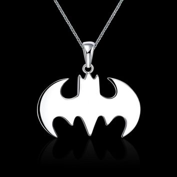 Summer Style Batman Silver-Plated Necklace Best Christmas Gift for Friends Collier Maxi Necklace Steampunk Jewelry