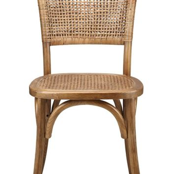 Churchill Dining Chair (Set Of 2) Solid Elm Wood Rattan