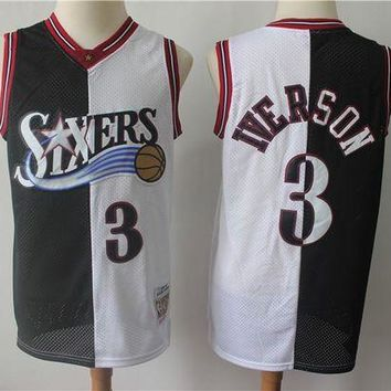 Philadelphia 76ers 3 Allen Iverson Double Color Basketball Jersey DCCK