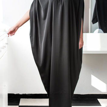 BLACK Maxi Dress, Caftan, Abaya, Plus size dress, Elegant dress, Plus size maxi dress, Kaftan, Party dress, Long dress