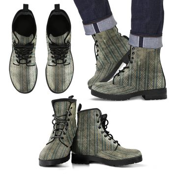 Grunge Strpped Men's Leather  Boots