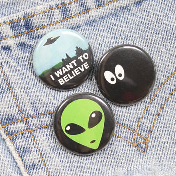 Cartoon Eyes 1.25 Inch Pin Back Button Badge