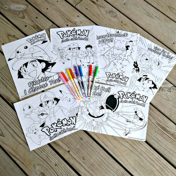 VINTAGE Pokemon Coloring Set