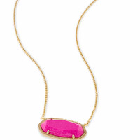 Delaney Gold Pendant Necklace in Magenta | Kendra Scott