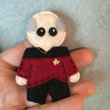 Star Trek TNG Captain Picard Uniform Pin