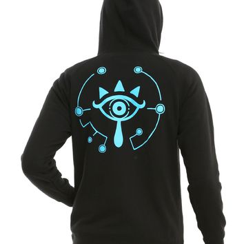 Licensed cool The Legend of Zelda: Breath of the Wild Sheikah Hoodie Hoody Sweatshirt Nintendo
