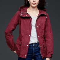 Gap Women Nylon Utility Hooded Jacket
