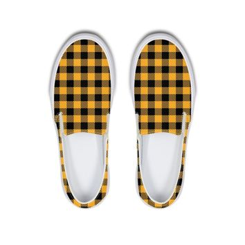 Plaid Slip-On Canvas Shoe