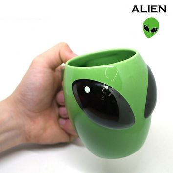 cool mysterious 3D Aliens ceramic cup UFO Conspicuous ceramic coffee mug