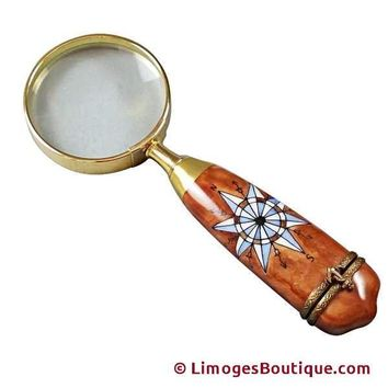 MAGNIFYING GLASS LIMOGES BOXES