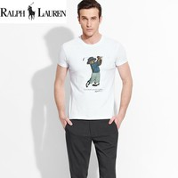 "New Ralph lauren Mens ""Golf Big Bear"" Shirt Sleeve T shirt 100% COTTON TOP"